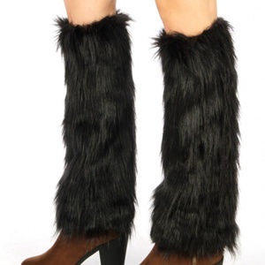 Furry frost faux fur boot covers leg warmers